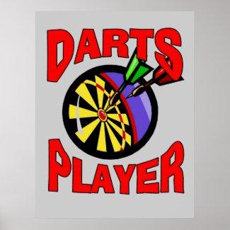 Darts Player print