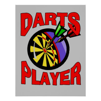 Darts Player Poster