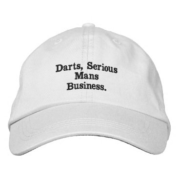 Professional Business Darts, Serious Mans Business White Embroidered Cap