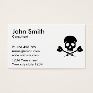 Darts skull business card