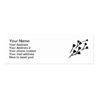 Darts sports mini business card