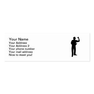 Darts sports player mini business card