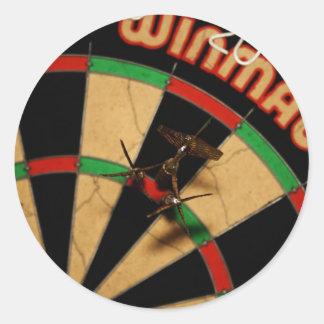 Darts Round Stickers