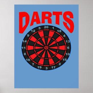 Darts Target print