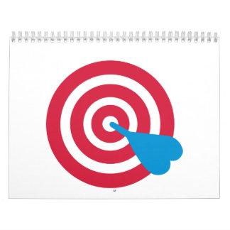 Darts target calendar
