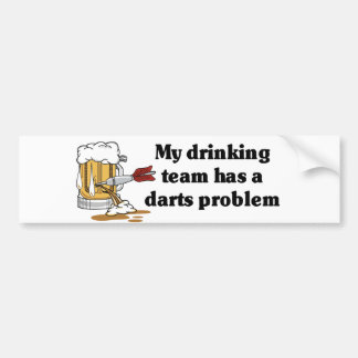 Darts Team Bumper Sticker