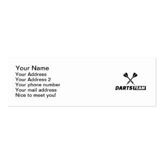 Darts team mini business card