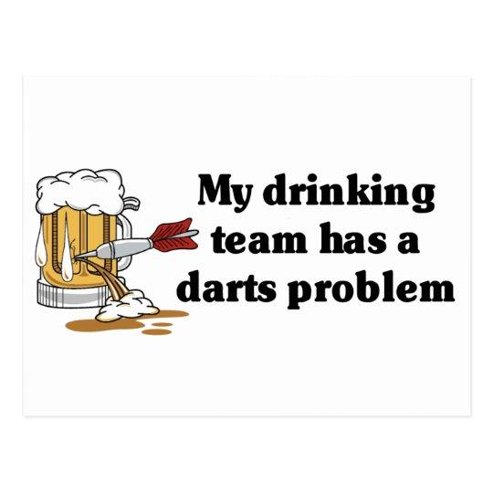 Darts Team Postcard