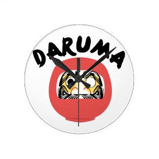 Daruma Round Wall Clock