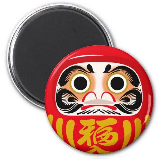 Daruma Doll 2 Inch Round Magnet