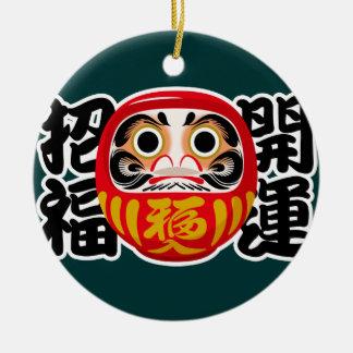 Daruma Doll Ceramic Ornament