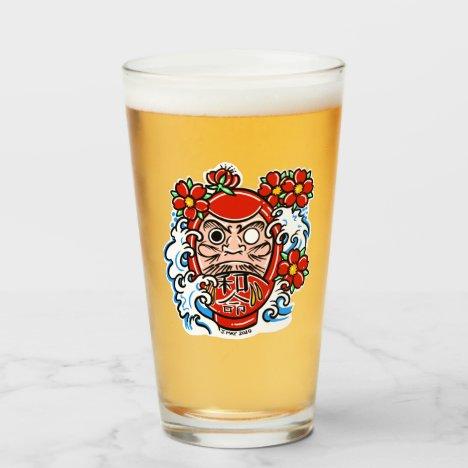 DARUMA DOLL Craft Beer Pint Glass