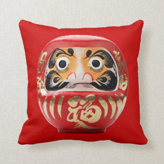 Daruma doll throw pillow