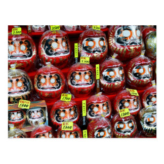 Daruma Good Luck Dolls of Japan Postcard