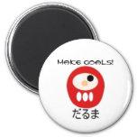 daruma, Make Goals! 2 Inch Round Magnet