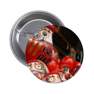 Daruma San Japanese Good Luck Dolls Button