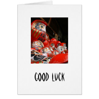 Daruma San Japanese Good Luck Dolls Card