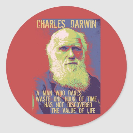 Darwin 1 classic round sticker