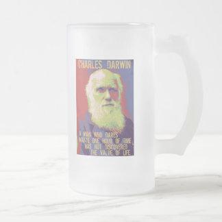 Darwin 1 frosted glass beer mug