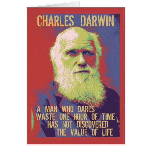Darwin 1 greeting cards