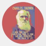 Darwin 1 pegatina redonda