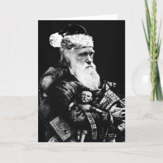 Darwin Atheist Christmas Card card