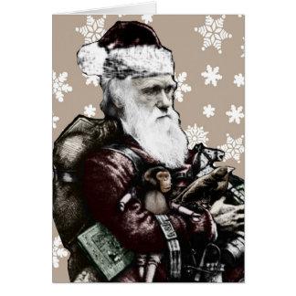 Darwin Atheist Christmas Card (Color)