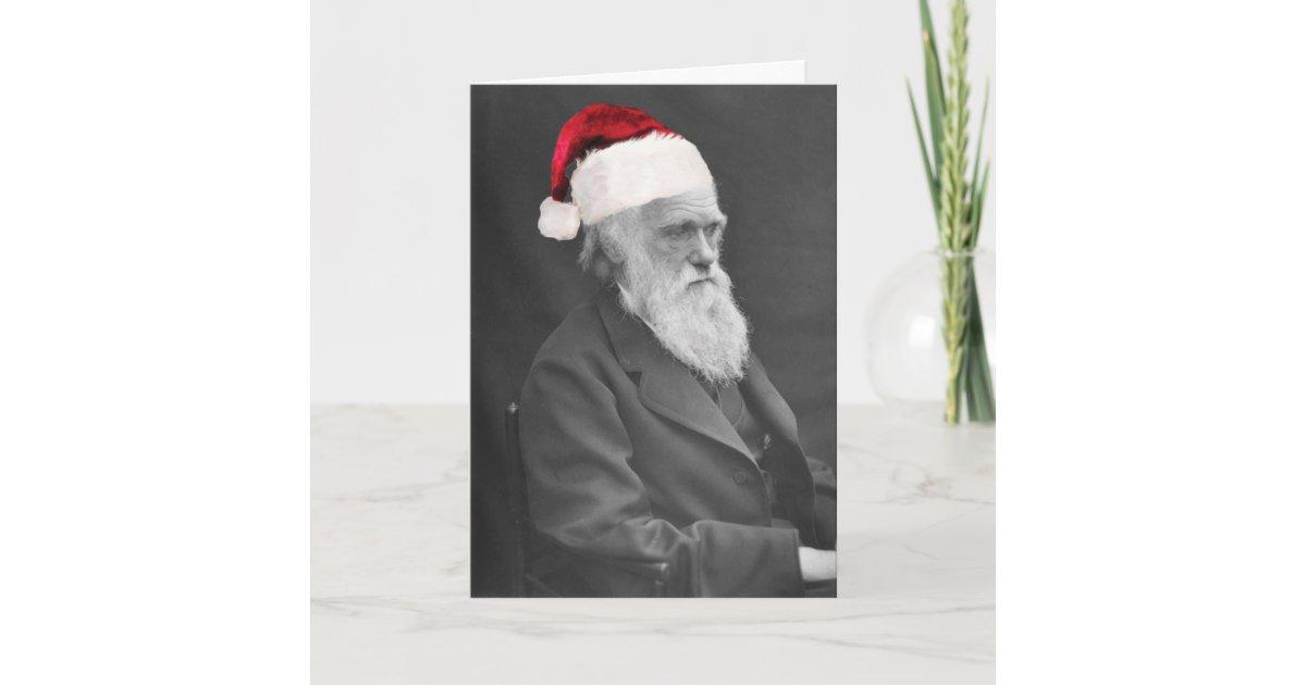 Darwin Atheist Christmas Card - Season\'s Greetings | Zazzle.com