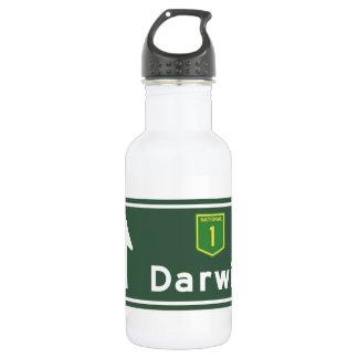 Darwin, Australia Road Sign Water Bottle