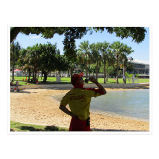darwin beach lifeguard postcard