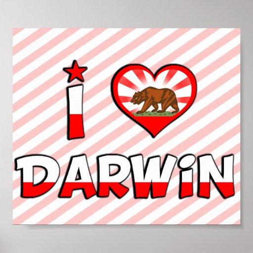 Darwin, CA Poster