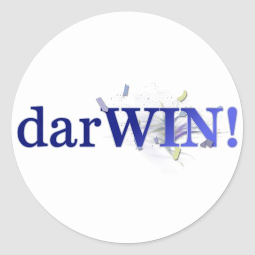 darWIN! Classic Round Sticker