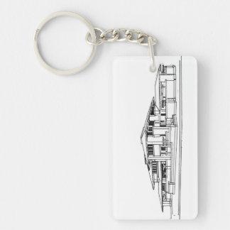 Darwin D. Martin House / Black & White Keychain