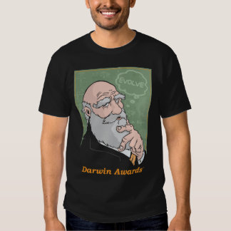 Darwin: Desarrolle la camiseta - negro Poleras