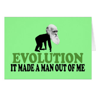 Darwin divertido tarjeta de felicitación