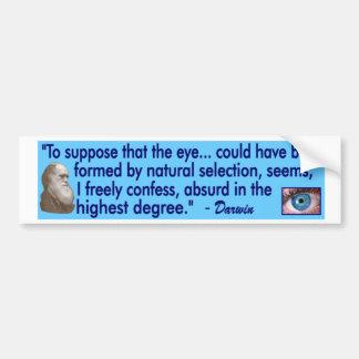 Darwin - en el ojo pegatina para auto