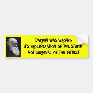 Darwin era incorrecto etiqueta de parachoque
