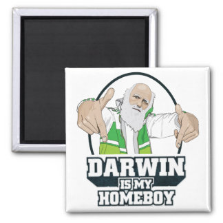 Darwin es mi Homeboy (a todo color) Imán Cuadrado