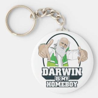 Darwin es mi Homeboy a todo color Llavero Personalizado