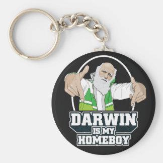 Darwin es mi Homeboy (a todo color) Llavero Redondo Tipo Pin