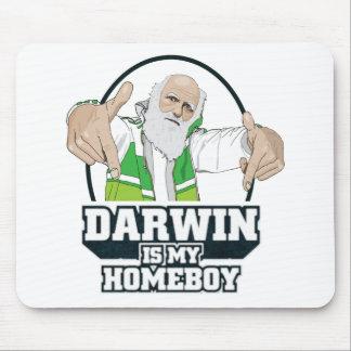 Darwin es mi Homeboy a todo color Alfombrillas De Ratones
