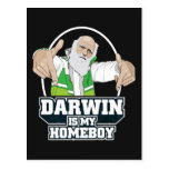 Darwin es mi Homeboy (a todo color) Postal