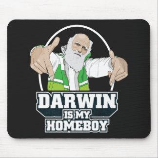Darwin es mi Homeboy a todo color Alfombrilla De Ratón