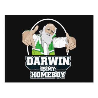 Darwin es mi Homeboy (a todo color) Tarjeta Postal