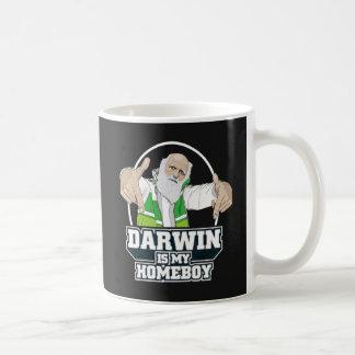 Darwin es mi Homeboy (a todo color) Taza Básica Blanca