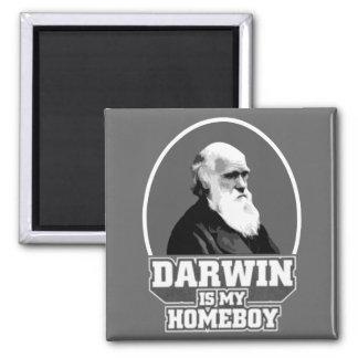 Darwin es mi Homeboy Imán Cuadrado