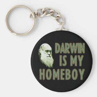 Darwin es mi Homeboy Llavero Redondo Tipo Pin