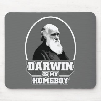 Darwin es mi Homeboy Mousepads