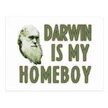 Darwin es mi homeboy postales