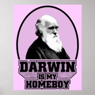 Darwin es mi Homeboy Poster